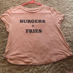 Charlotte Russe Burgers and Fries T-Shirt